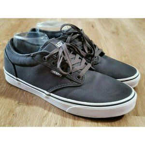 Vans Mens Atwood Gray Sneakers Size 9.5